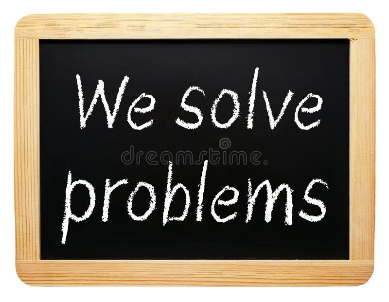 Мы разрешаем проблемы стоковое фото rf