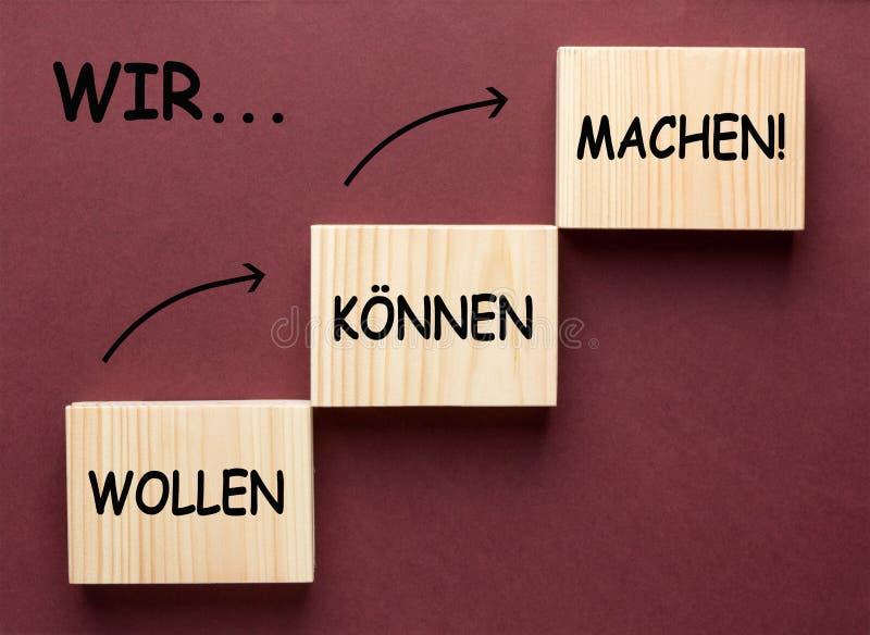 Мы Want можем сделать на немецком стоковое фото rf