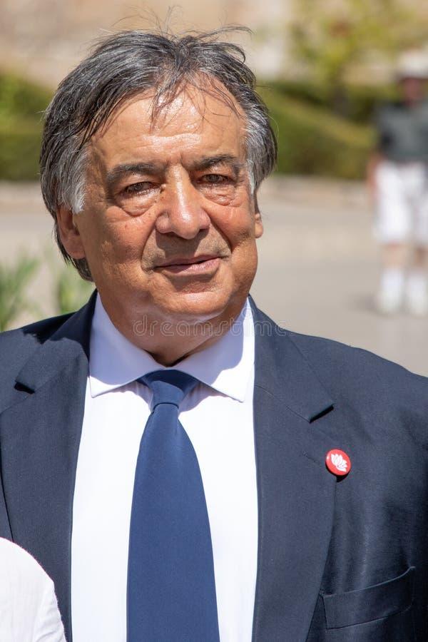 Мэр Палермо Leoluca Орландо, итальянского политика стоковая фотография