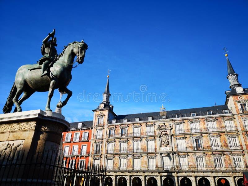 Мэр площади, главная площадь, Мадрид, Испания стоковые изображения