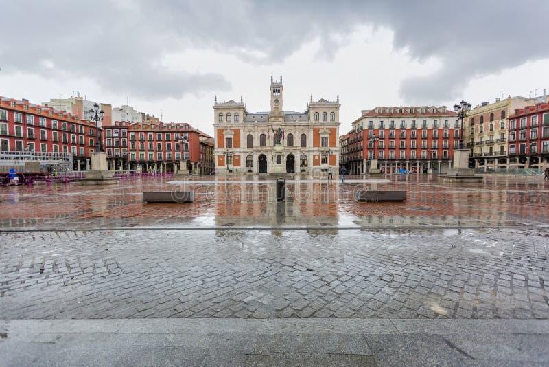 Мэр площади в Вальядолиде стоковые фотографии rf