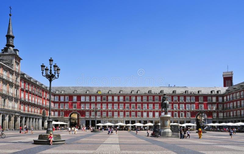Мэр площади в Мадриде, Испании стоковое изображение rf