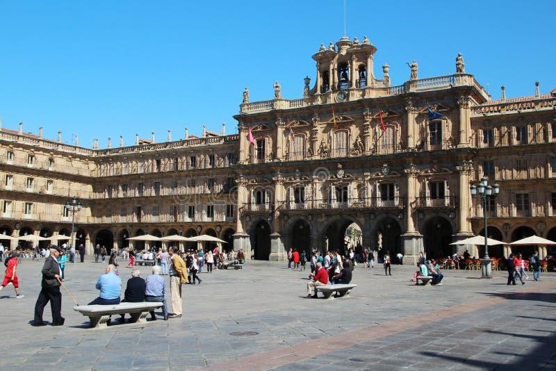 Мэр площади, Саламанка, Испания стоковые фото