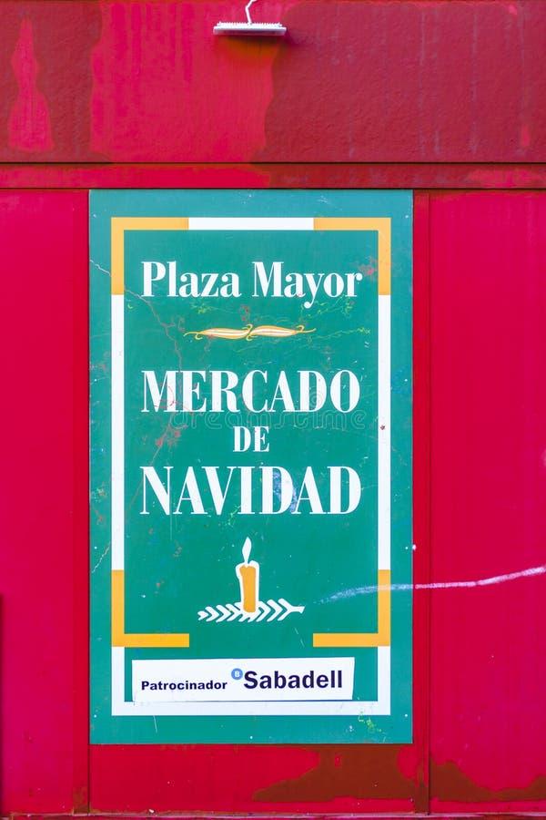 Мэр рождественская ярмарка площади, Мадрид, Испания стоковое фото rf