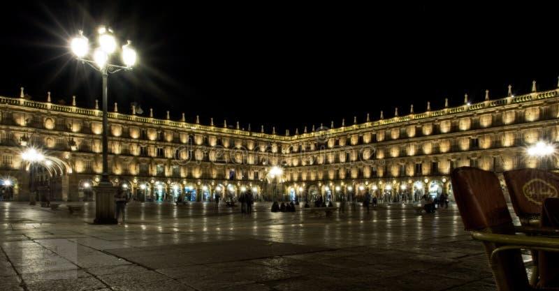 Мэр de Саламанка площади стоковое изображение rf