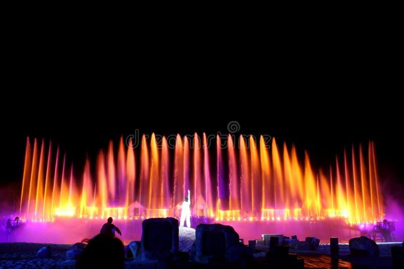 мюзикл фонтана стоковые изображения