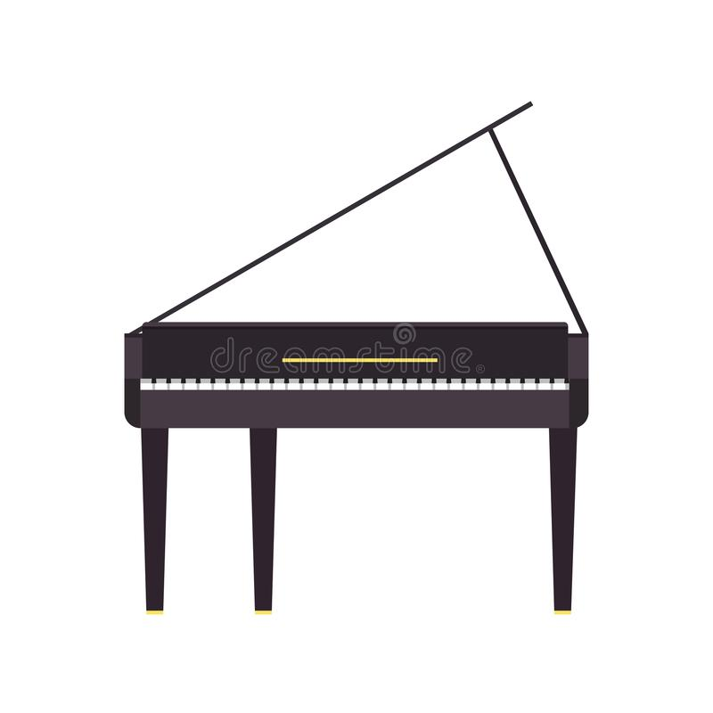 Мюзикл черноты аппаратуры иллюстрации музыки вектора рояля грандиозный бесплатная иллюстрация