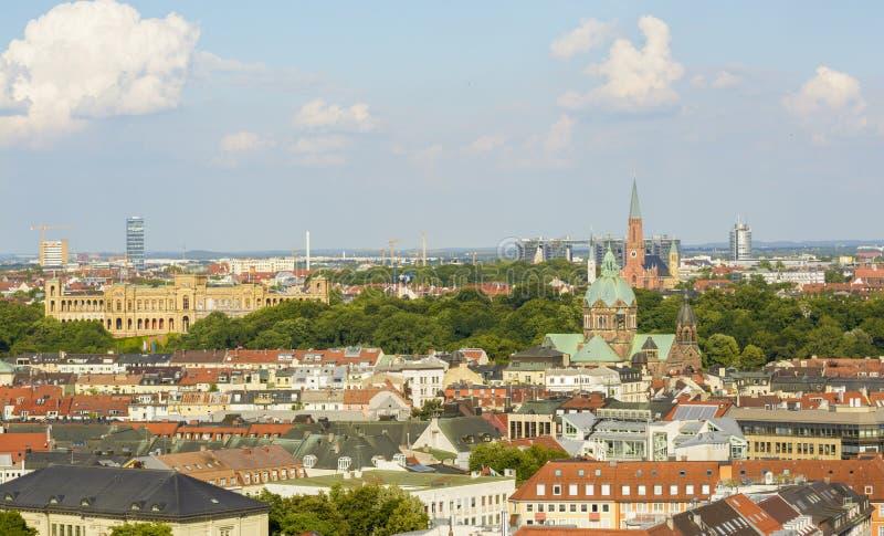 Мюнхен, вид с воздуха стоковое изображение rf