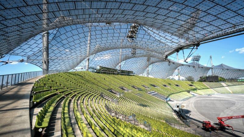 Мюнхен, Германия, 24-ое апреля 2016: Взгляд Olympic Stadium в Мюнхене Германии стоковые изображения