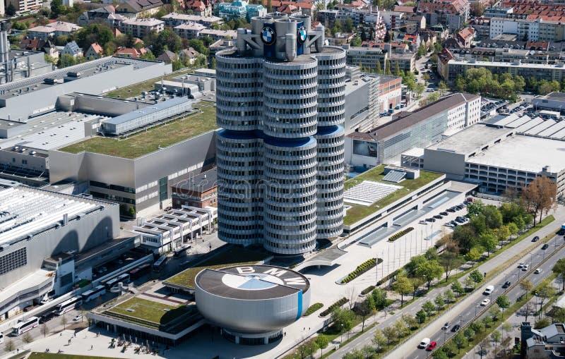 Мюнхен, Германия, 24-ое апреля 2016: Штабы BMW в Мюнхене Германии стоковая фотография