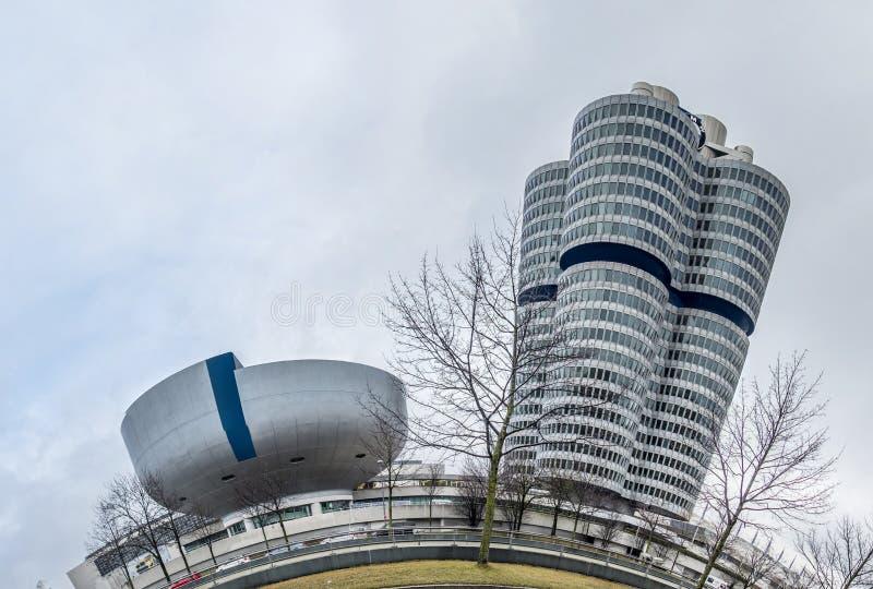 Мюнхен, Германия - 15-ое февраля 2018: Штабы BMW расположены в городе Мюнхена стоковое фото