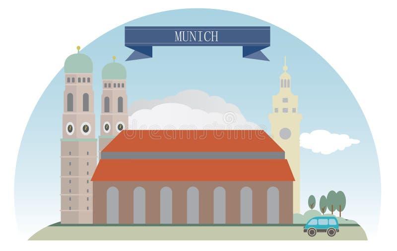 Мюнхен, Германия иллюстрация вектора