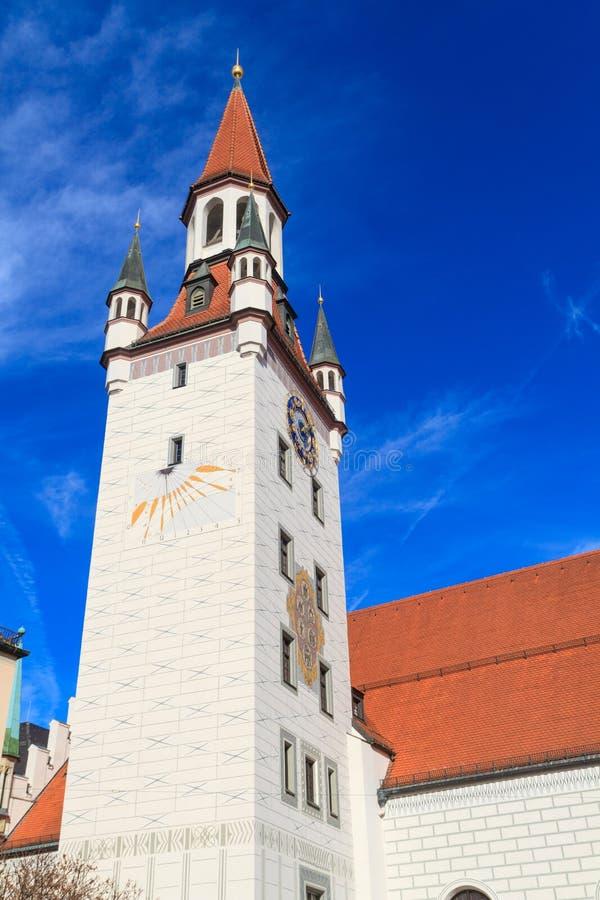 Мюнхен, старая ратуша с башней, Баварией стоковые изображения rf
