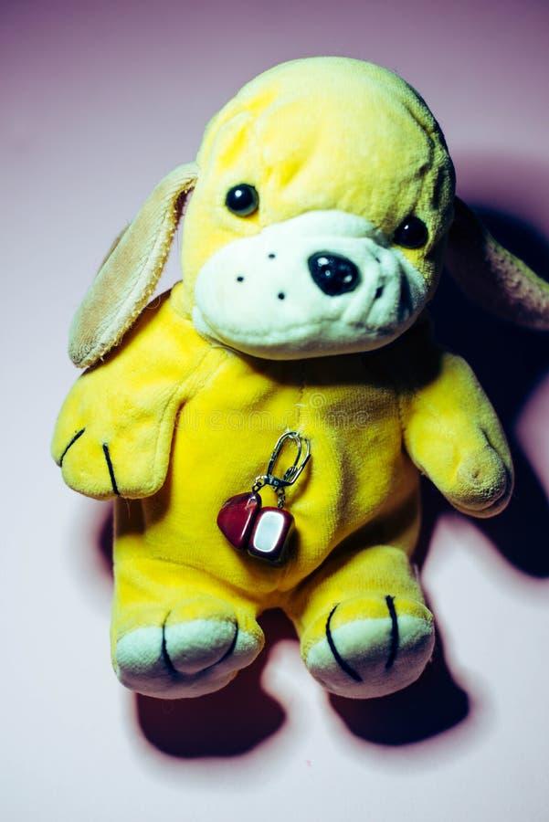 """Мягкая игрушка """"собака """" стоковое изображение"""