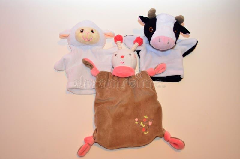 Мягкие игрушки для newborn младенцев стоковое изображение