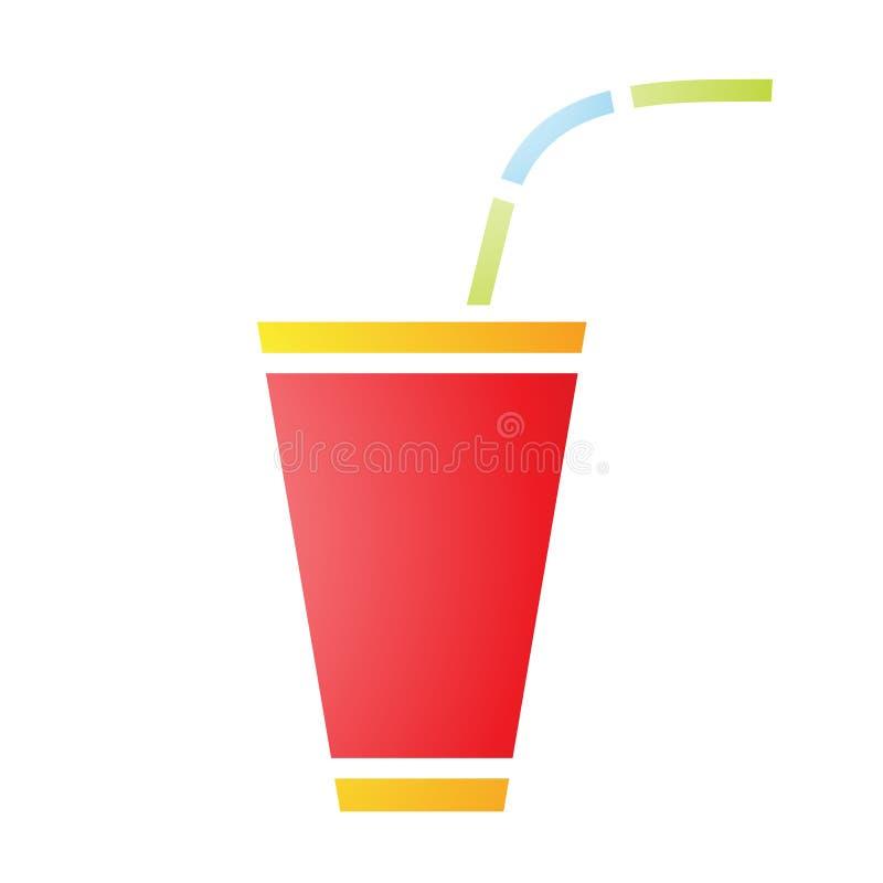 Мягкий газированный значок питья бесплатная иллюстрация