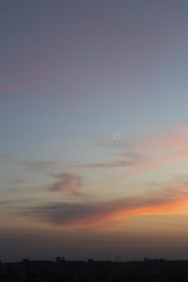 Мягкий розовый заход солнца стоковые фото