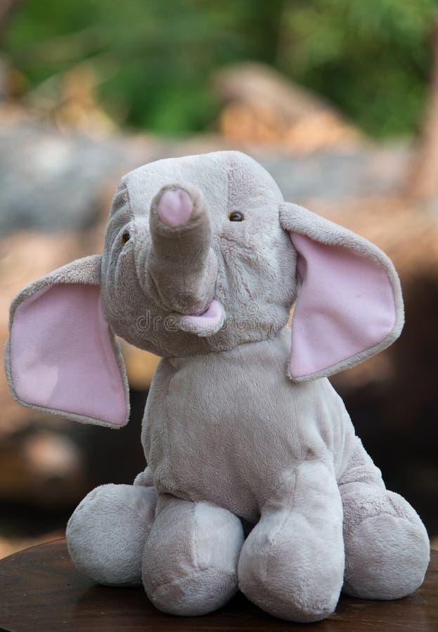 Мягкий слон игрушки стоковое изображение