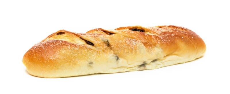 Мягкий хлеб Раисин изолирован на белом фоне стоковые изображения