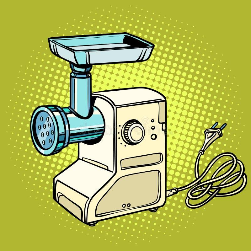 Мясорубка, оборудование кухни иллюстрация вектора