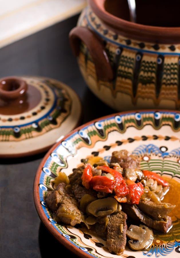 мясо величает помадка потушенная перцем стоковое фото rf