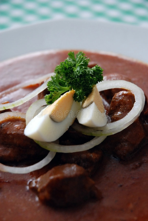 мясо гуляша стоковое изображение rf