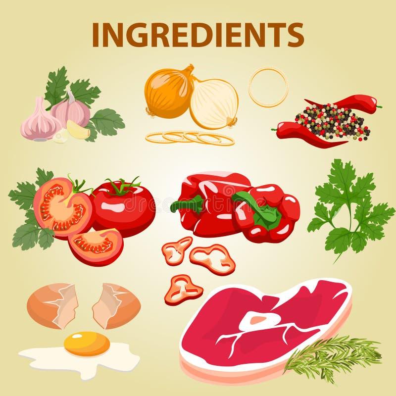 Мясо и овощи бесплатная иллюстрация