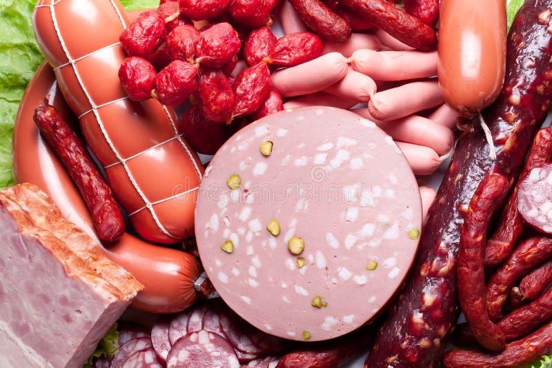 Мясо и сосиски стоковое фото