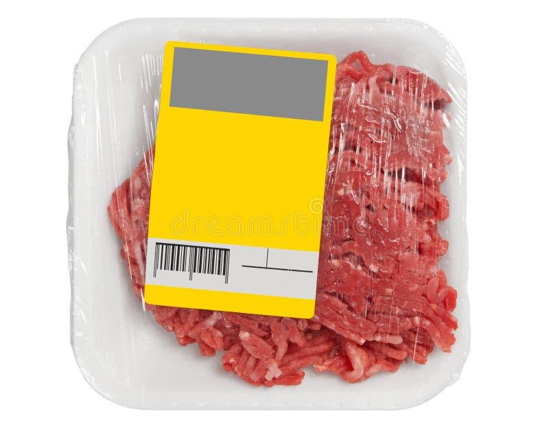 мясо семенит упаковывать стоковое изображение rf