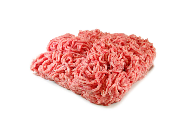 мясо сырцовое Свежий семенить свинина в плите изолированной на белой предпосылке стоковые изображения rf