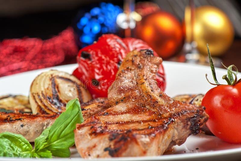 Мясо с овощем стоковое фото rf