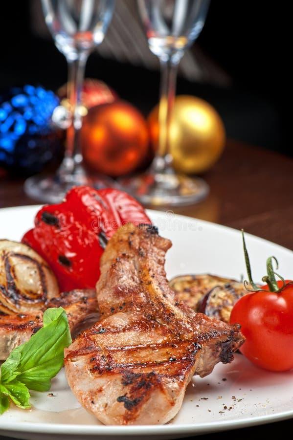 Мясо с овощем стоковое изображение rf