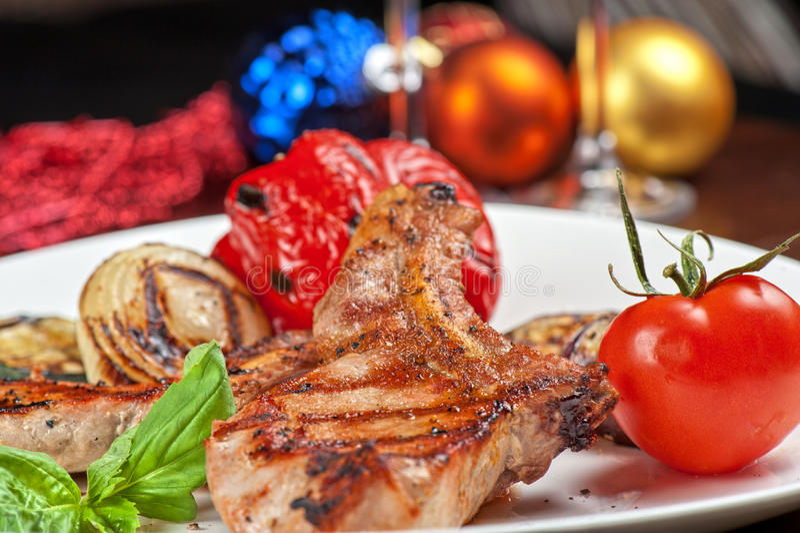 Мясо с овощем стоковая фотография
