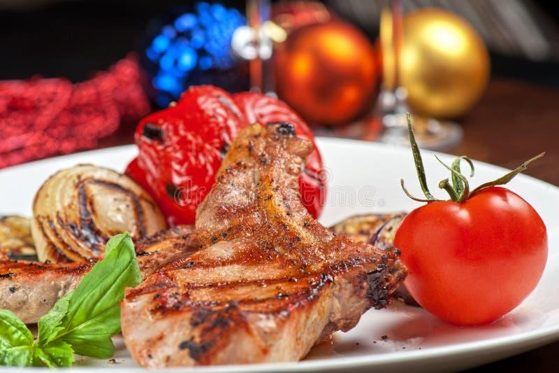 Мясо с овощем стоковая фотография rf