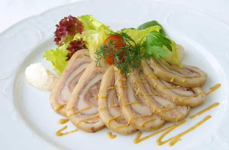 мясо 5 тарелок стоковое фото