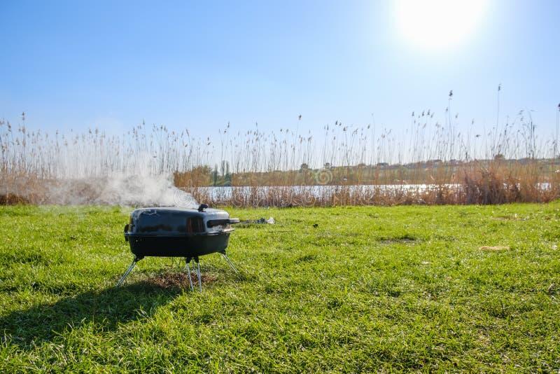 Мясо bbq травы лета гриля, говядина стоковые изображения rf