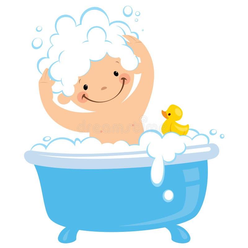 Bathtime иллюстрация вектора