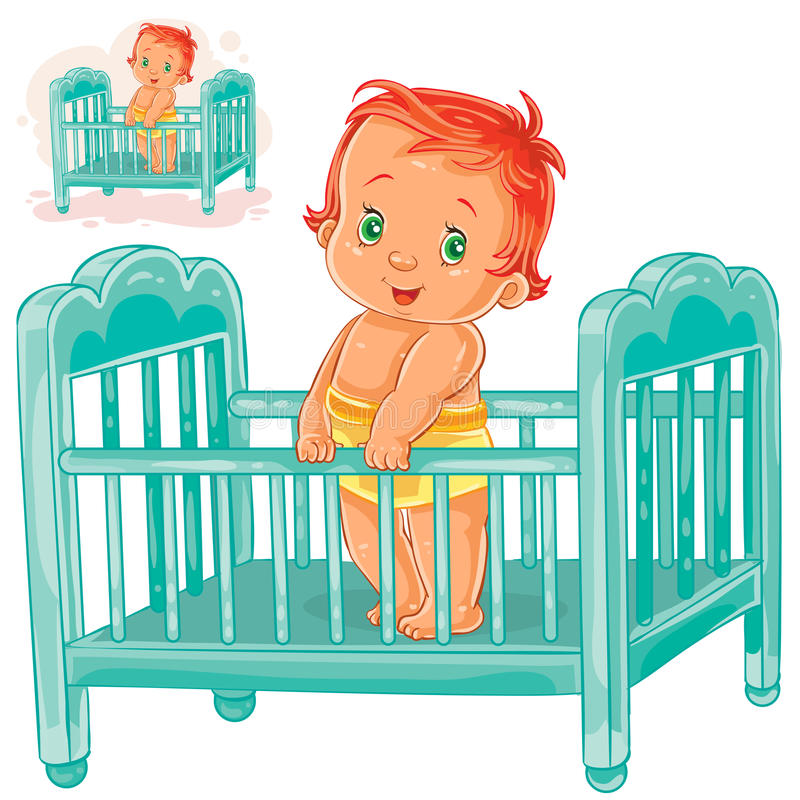 Картинка малыш в кроватке для детей