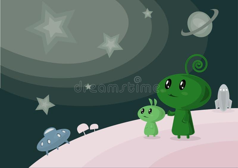 Младенец космоса стоковая фотография rf