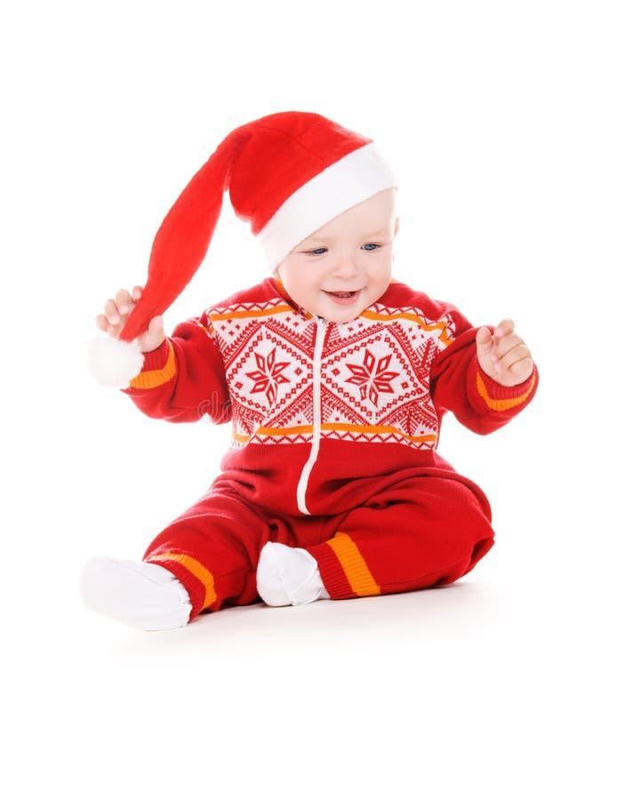 Младенец хелпера Санты стоковая фотография rf