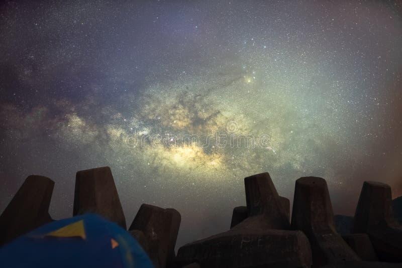 Млечный путь в Гонконге стоковые изображения
