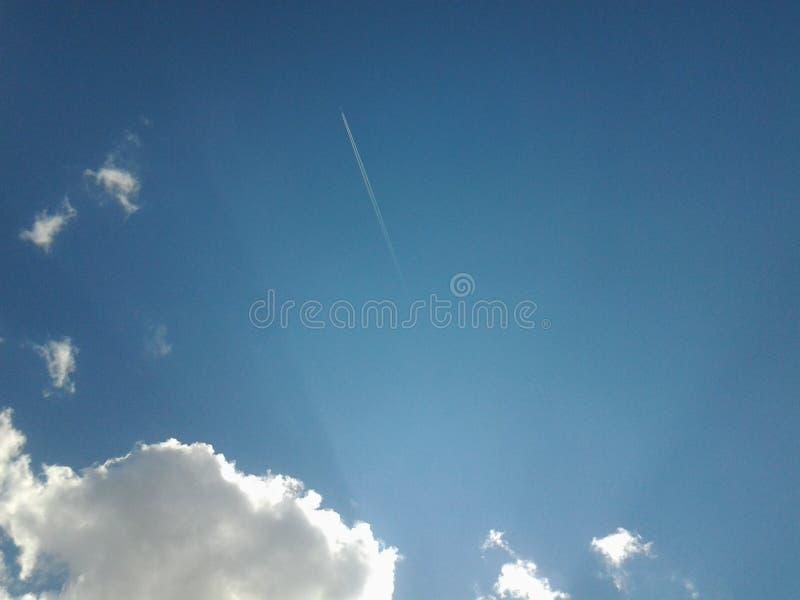 Млечный путь самолета стоковое фото rf