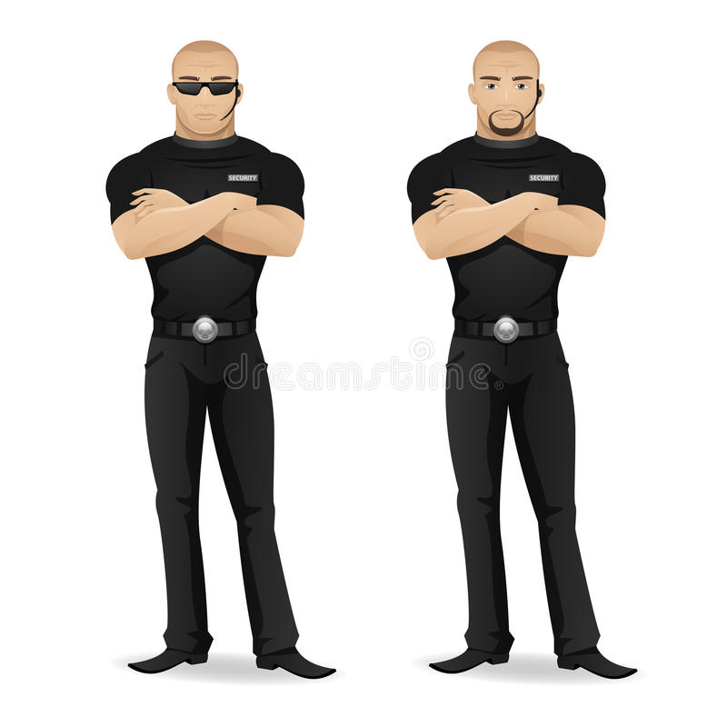Ðœan security guard of nightclub vector illustration