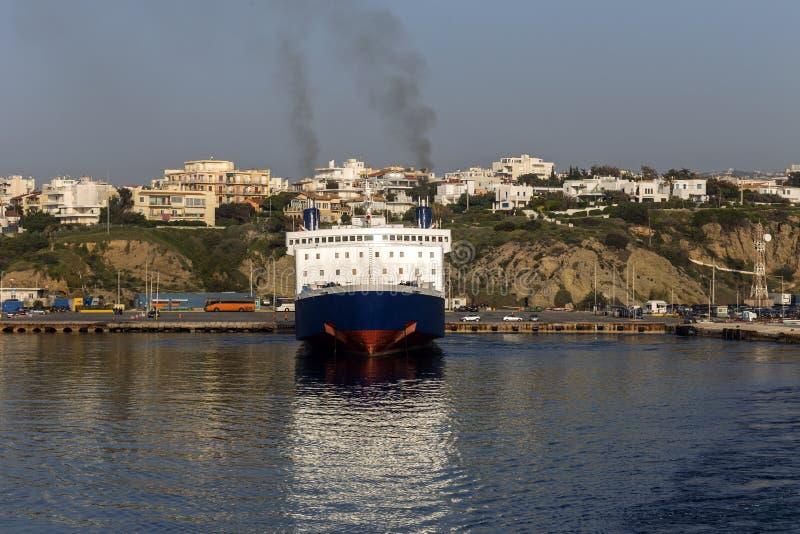Набережная порта Rafina Греции стоковые фото