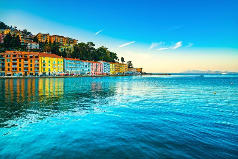 Набережная Порту Santo Stefano Monte Argentario, Тоскана, Италия стоковые изображения rf