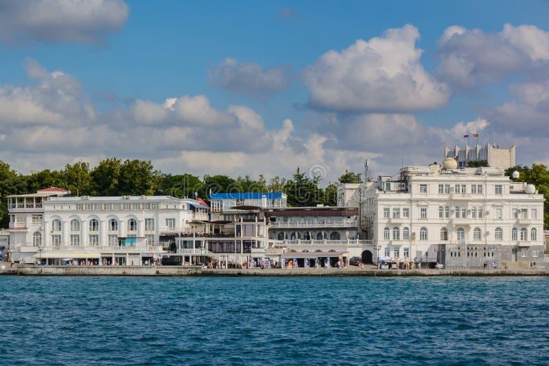 Набережная Севастополя стоковое фото rf