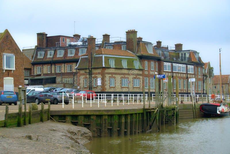 Набережная Blakeney в Норфолке Великобритании стоковая фотография