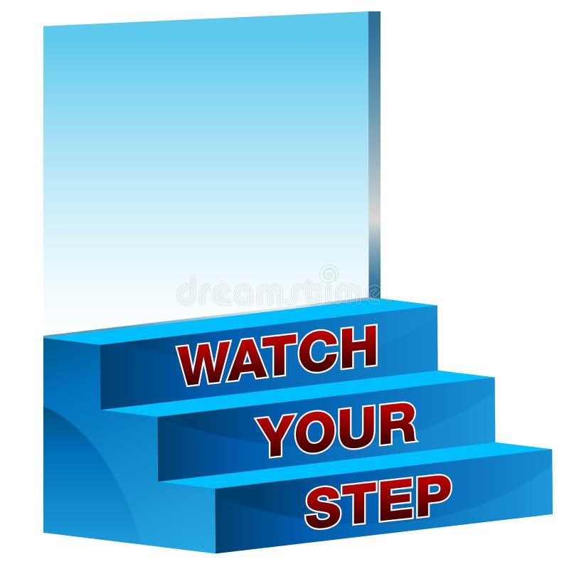 Наблюдайте вашу икону шага иллюстрация вектора