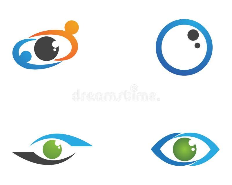 Наблюдайте логотип заботы и значки app вектора шаблона символов бесплатная иллюстрация