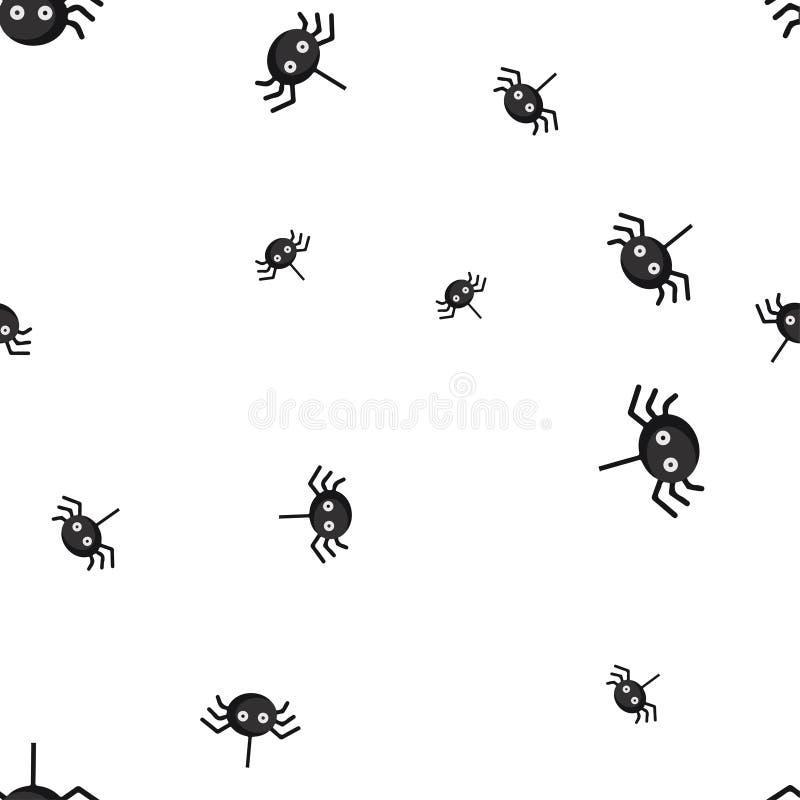 Наблюданная пауком картина хеллоуина безшовная бесплатная иллюстрация